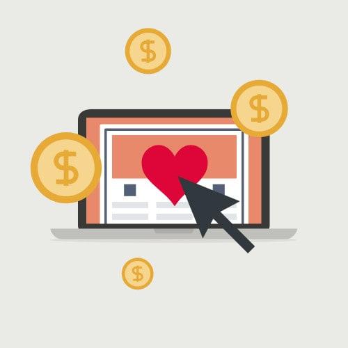 MacBook Icon & Geld Grafiken