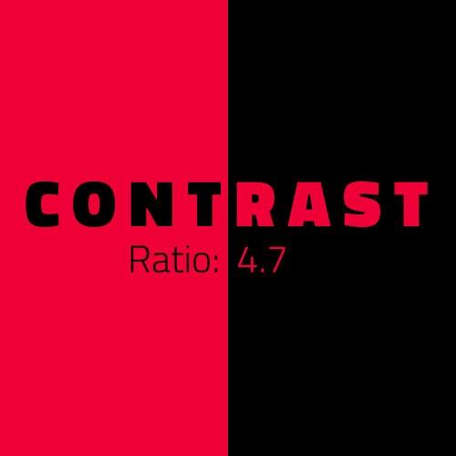 Schwarz-Rote Grafik für Kontrast
