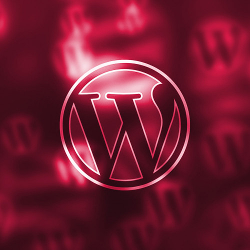Wordpress Logo in Rot