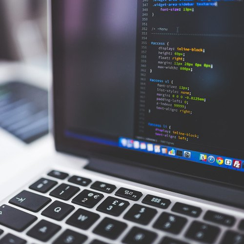 CSS Code auf dem Macbook