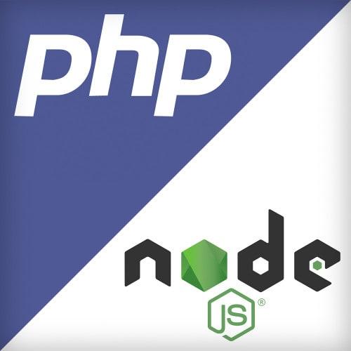 Vergleichsbild PHP und NodeJS