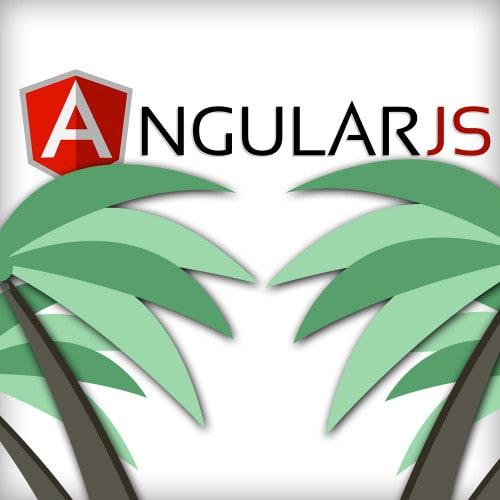 AngularJS Logo mit Dschungel