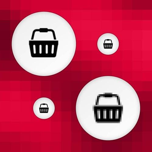 Logos in verschiedener Schärfe