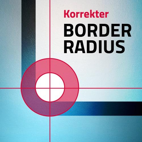 Schaubild für einen Border-radius
