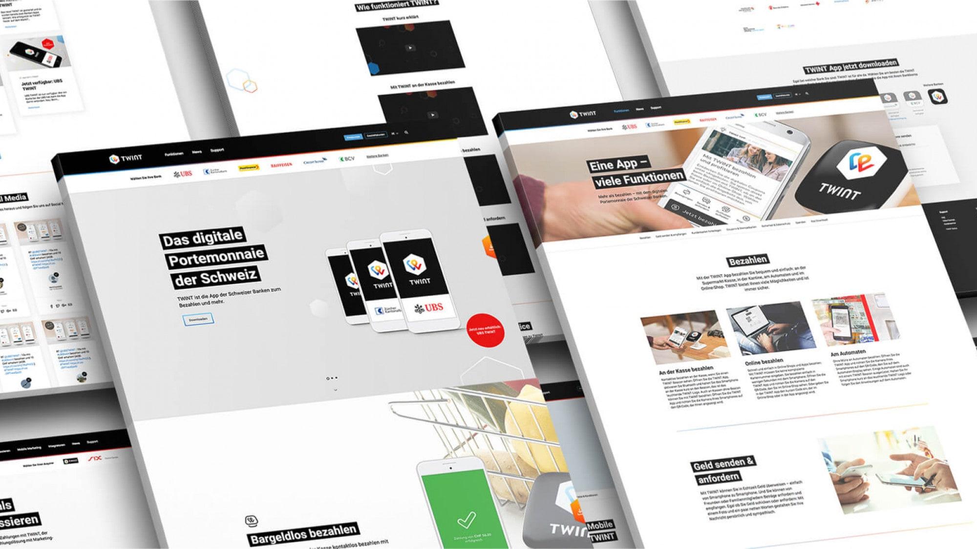 Webentwicklung für schweizer Fintech Unternehmen